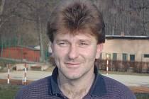 Trenér Spartaku Kaplice Václav Domin.