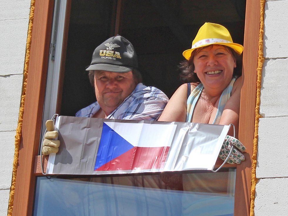 Prvomájový průvod v Rožmitále na Šumavě v roce 2018.