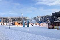 Ski areál Lipno.