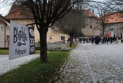 Ulička s klášterními řemesly v klášteře Český Krumlov.