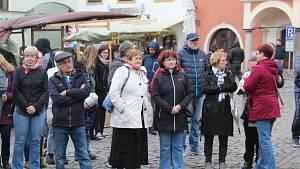 Protest Nejsme slepí! v Českém Krumlově