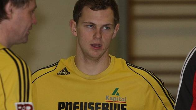 Dvěma góly se v druhém zápase Bombarďáků proti Varnsdorfu prosadil Petr Bordač.