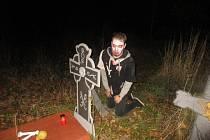 Hallowenská stezka odvahy v Loučovicích.