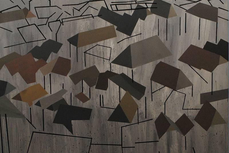 Z výstavy Jakuba Sýkory, který strávil v roce 2020 v Českém Krumlově několik týdnů na tvůrčím pobytu.