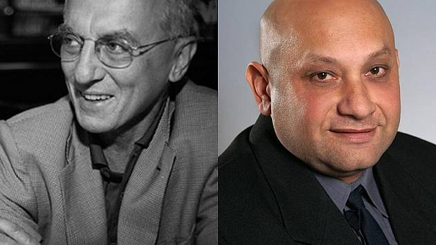Lékař Václav Pecha (vlevo) se ptá podnikatele Milana Kotlára.