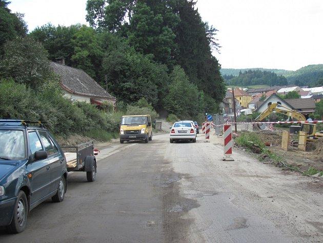Oprava Kaplické ulice ve Vyšším Brodě.