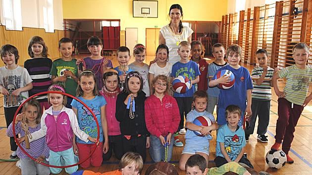 Třída 1. A z křemežské základní školy.