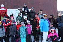 Lyžařské závody pro veřejnost McDonald's Winter Cup s Jakubem Kohákem přilákaly na Lipno desítky závodníků.