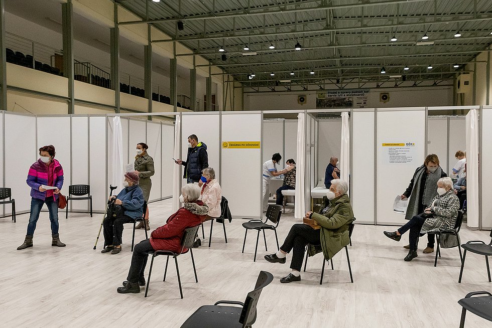 Očkovací centrum v Českém Krumlově má za sebou premiéru. Foto: Lubor Mrázek