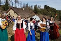 Krumlovská folková kapela Lakomá Barka.