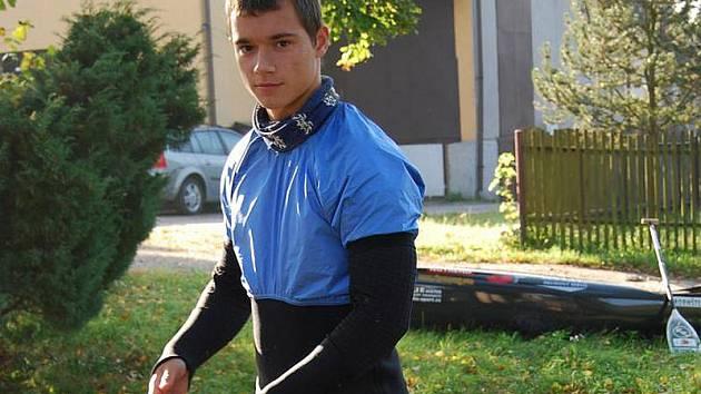 Jedním z nových členů krumlovského oddílu SK Vltava je z Českých Budějovic přicházející nadějný kanoista s reprezentačními ambicemi - Martin Novák.