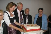 Oslava výročí vzájemné spolupráce mezi Rožmberkem nad Vltavou a Freistadtem, která trvá od roku 1982, ve freistadském Salzhofu.