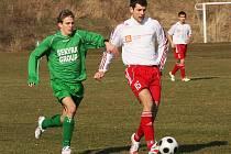 Fotbalové utkání krajského přeboru mužů / FK Olympie Týn nad Vltavou - FK Slavoj Český Krumlov 2:0.