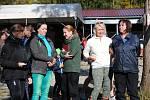 Podzimní zamykání Vltavy v kempu Krumlov.