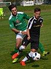 Divize - 5. kolo: FK Slavoj Český Krumlov (zelené dresy) - TJ Malše Roudné 1:3 (1:1).