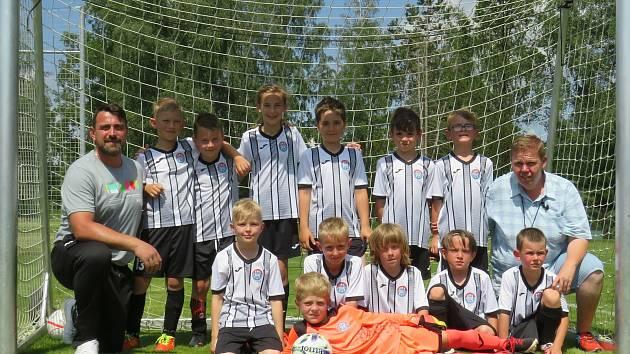 Mladší přípravka kaplického Spartaku se zúčastnila turnaje osmi týmů v Kamenici nad Lipou, kde skončila čtvrtá.