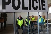 Snímek je ze cvičení policie na hranici v Dolním Dvořišti.