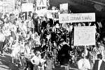 První máj ve Vyšším Brodě v roce 1988.