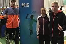 Krumlovský trojlístek na Mezinárodním mistrovství Islandu – zleva: Jaromír Janáček, Sabina Milová a Ondřej Král.