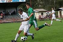 Fotbalové utkání krajského přeboru mužů / FK Topmen Spartak Kaplice - Sokol Čížová 4:0 (2:0).