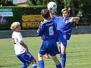 OP starší žáci – 26. kolo: FK Nová Ves / Brloh (bílé dresy) – FC Velešín 0:12 (0:5).