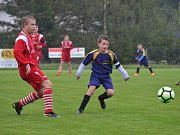 OP starší žáci - 6. kolo: Sokol Chvalšiny (modré dresy) - SK Holubov / Sokol Křemže 0:7 (0:5).