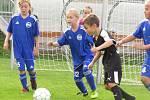 OP mladší přípravky – 1. kolo: FK Spartak Kaplice (černé dresy) – FC Lipno / FC Šumava Frymburk 16:0 (3:0).