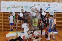 Okresní finále Odznaku všestrannosti olympijských vítězů se konalo v úterý v tělocvičně ZŠ Školní v Kaplici.