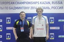 Na mistrovství Evropy dospělých v ruské Kazani hájili barvy českokrumlovského badmintonu trenér Radek Votava a Pavel Florián (na snímku).
