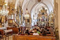 Klášterní kostel Božího Těla a Bolestné Panny Marie v Českém Krumlově.