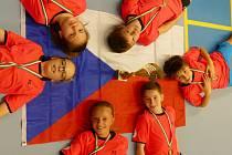 Bronzoví čeští žáci na turnaji Nation to Nation U13 v maďarské Pécsi. Foto: Archiv SKB Č. Krumlov