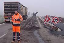 Na křižovatce u Dolního Třebonína vypukly stavební práce.