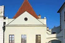 Měšťanský dům vedle radnice v Českém Krumlově.