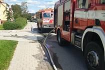 Hasiči zasahovali při úniku plynu v Omlenické ulici v Kaplici.
