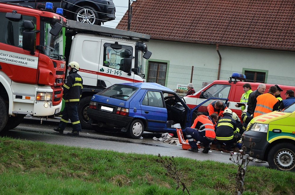 Nehoda u Velešína.