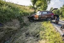 U Velešína se v pátek stala nehoda.