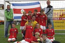 Benjamínci kaplického Spartaku, kteří na kvalitním mezinárodním turnaji v rakouském Putzleinsdorfu vybojovali pod hlavičkou Kostariky krásný bronz.