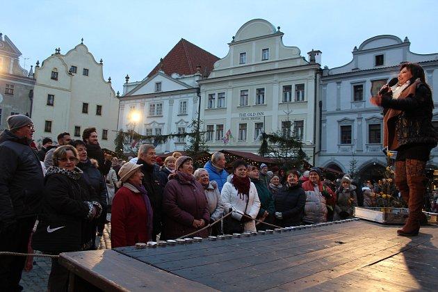 Zahájení adventního trhu v Českém Krumlově.