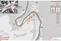 Od 19. března bude zavřený průtah Rožmberkem, do prázdnin by měla být rekonstrukce hotová.