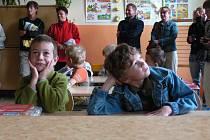Prvňáčci v kájovské základní škole.