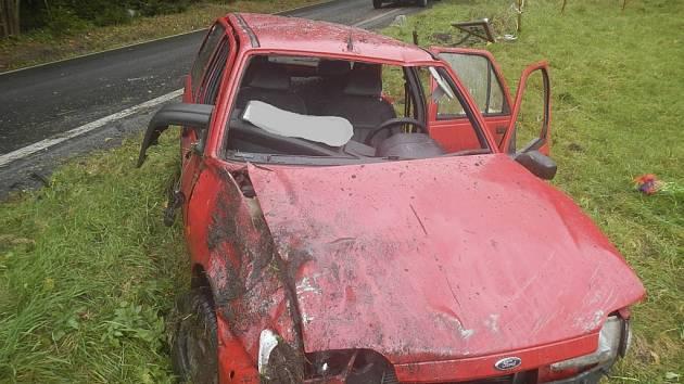 Nehoda u Frymburka.
