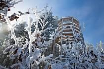Zima na lipenském Kramolíně.
