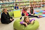 Dětské oddělení kaplické knihovny v časech bezcovidových.