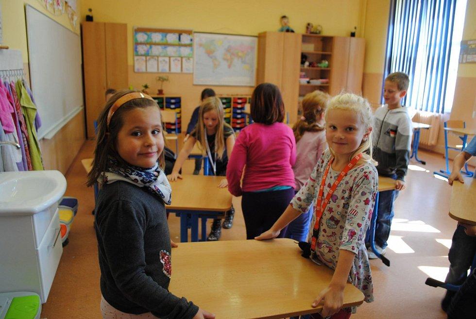 Třeťáci z krumlovské ZŠ T. G. Masaryka už vyklidili svou třídu