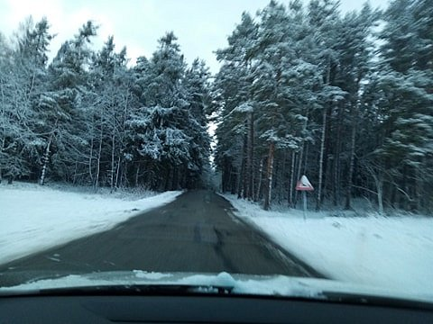 Pondělní ráno u Nové Vsi nedaleko Brloha na Českokrumlovsku.
