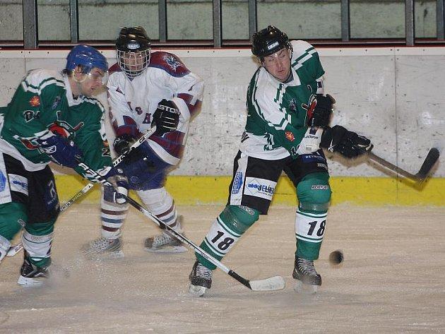 Hokejové utkání krajské ligy mužů / HC Slavoj Český Krumlov - TJ Hluboká nad Vltavou Knights 3:4.