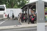 Bus Stop B na Chvalšinské už je téměř hotový, za vjezdy a výjezdy město začne vybírat peníze v sobotu 1. červnu.