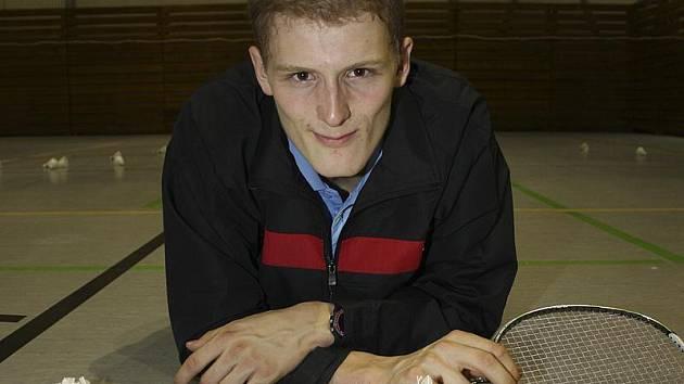 Českokrumlovský badmintonový reprezentant Pavel Florián.