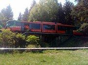Na Krumlovsku se srazily dva osobní vlaky.