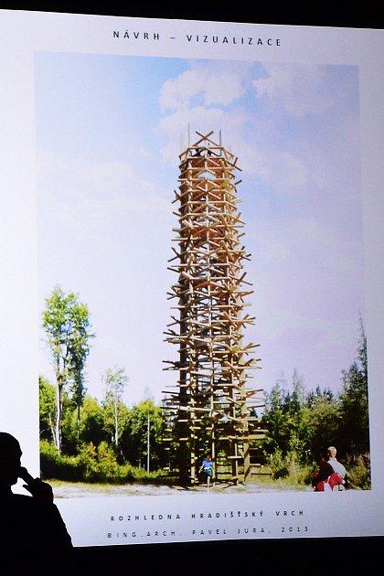 Zhruba takto by měla vypadat nová rozhledna na vrchu Hradiště.